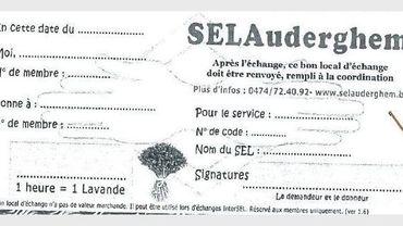 Le Système d'Echange Local s'organise sous forme de bon, échangeable contre un service