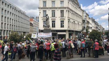 Une centaine de grands-parents manifestent pour le climat ce jeudi après-midi à Bruxelles.