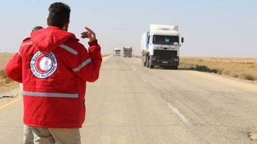 Passage d'un convoi humanitaire vers la Syrie en novembre 2018