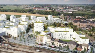 C'est un nouveau quartier qui va voir le jour à Gembloux à côté de la gare. Celle-ci est la sixième la plus fréquentée en Wallonie. D'où l'importance de ce projet qui réhabilitera en partie un chancre industriel. 2500 personnes devraient habiter à termes dans cette zone en bordure de deux routes nationales et d'une chaussée.