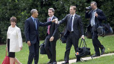 Jamais loin de Barack Obama, Pete Souza a été son photographe officiel pendant des années. Ici en octobre 2016 à Washington.