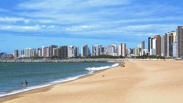Une plage de Fortaleza au Bresil