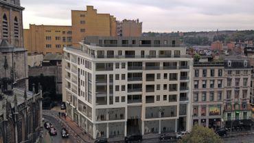 Liège: Projet de rénovation de l'immeuble place Cathédrale par le bureau d'architectes liégeois N.J.D.A.