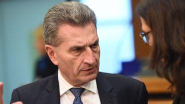 Le commissaire européen à l'Economie numérique, Günther Oettinger
