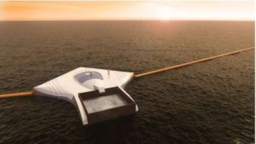 """Le site du """"Nouveau Paradigme"""" évoque la mise en marche de l'aspirateur à déchets marins pour l'an prochain."""