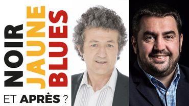 Jean-Pierre Jacqmin, directeur de l'info à la RTBF, et Christophe Berti, rédacteur en chef du Soir.
