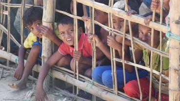 Des jeunes Rohingyas dans un camp de réfugiés en Birmanie