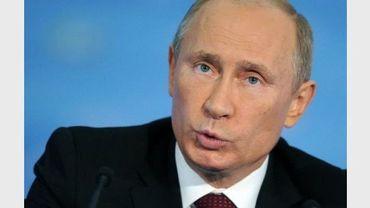 Le président Vladimir Poutine donne une conférence de presse à la fin du sommet de l'Apec, le 9 septembre 2012, à Vladivostok