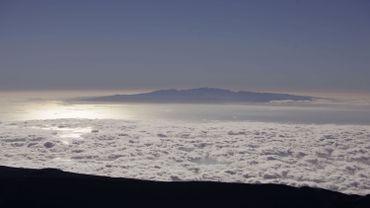 Vue aérienne du volcan Teide aux Canaries