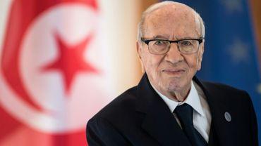Béji Caïd Essebsi, alors président de la Tunisie, photographié au palais présidentiel à Berlin, le 30 octobre 2018