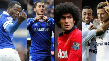 Romelu Lukaku, Eden Hazard, Marouane Fellaini, Moussa Dembélé et Jan Vertonghen