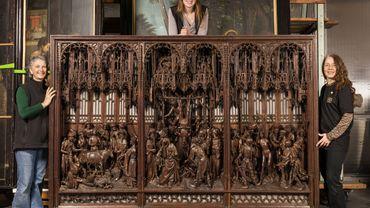 retable de saint Georges (1493) de Jan II Borman resplendit de nouveau au Musée Art & Histoire (MRAH).