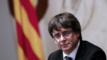Le président séparatiste catalan Carles Puigdemont, le 10 octobre 2017 à Barcelone