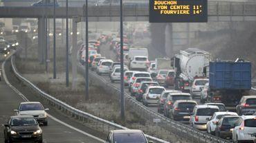 Circulation ralentie près de Lyon le 24 janvier 2017