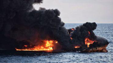 Le Sanchi a coulé le 14 janvier après avoir brûlé pendant une semaine à la suite d'une collision avec un cargo à environ 300 kilomètres à l'est de Shanghai.