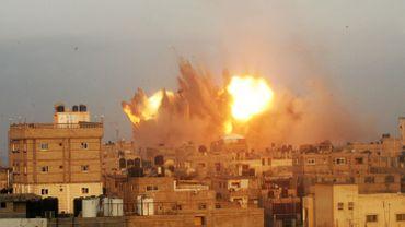 Un tir effectué par l'armée israélienne ce vendredi matin sur Rafah, dans le sud de la Bande de Gaza