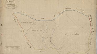 2756, Ottignies - Louvain-la-Neuve, Section B, 1-110 : la situation antérieure au développement de Louvain-la-Neuve