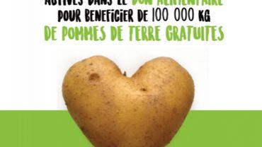 100 tonnes de pommes de terre wallonnes redistribuées au secteur de l'aide alimentaire