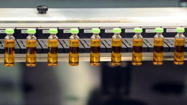 Une chaîne de production d'insuline de Novo Nordisk, société danoise leader dans le traitement du diabète, à Chartres (France).