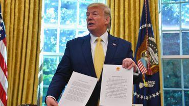 Donald Trump après la rencontre avec Liu He, le principal négociateur chinois
