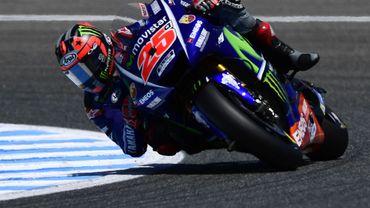 Vinales en pole devant Rossi et Zarco au Mans
