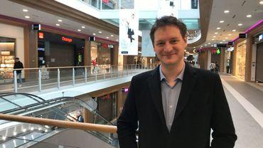 Thomas Cornil, le directeur de Rive Gauche, satisfait après une année d'existence du centre commercial carolo