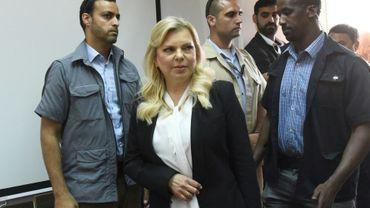 Sara Netanyahu arrive au tribunal à Jérusalem, le 16 juin 2018