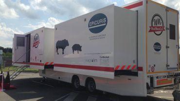 La nouvelle unité mobile de formation à la découpe de viande