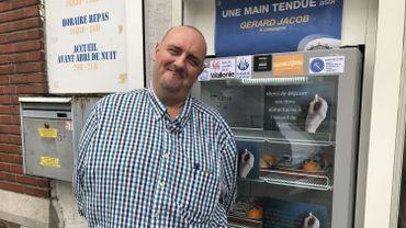 Didier Arnouts, le référent alimentaire chargé de vérifier que les produits peuvent encore être consommés
