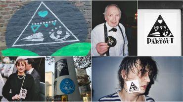 A la Louvière, Bruxelles ou à l'étranger, en compagnie de Pete Doherty, Marion Cotillard ou Popeck, les symboles intriguent.