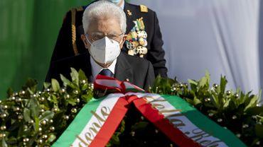 Le président italien Mattarella, ce mardi, lors de la fête nationale.