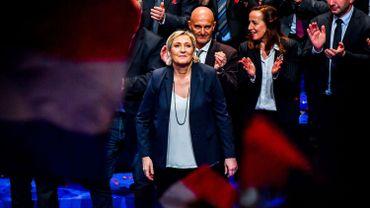 Marine Le Pen au congrès du parti le 11 mars.