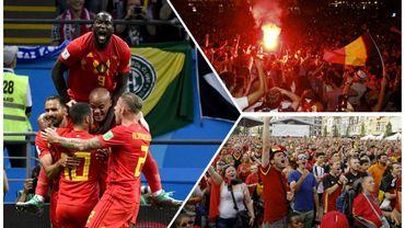 Une victoire épique, un pays en communion, revivez l'exploit belge contre le Brésil