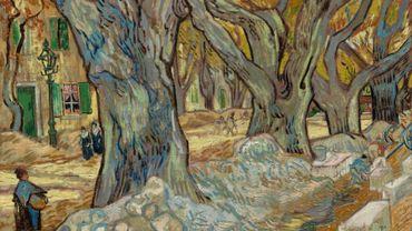 The Large Plane Trees (Road Menders at Saint-Rémy), 1889, Vincent van Gogh