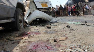 Lieu de l'attentat du 13 mars à Aden