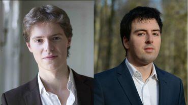 Florian Noack et Yannick Van de Velde, les deux candidats belges en première épreuve