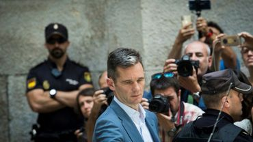 L'ancien joueur de handball et époux de la Princesse Cristina d'Espagne, Inaki Urdangarin, quitte le tribunal de Palma de Majorque aux Baléares, le 13 juin 2018