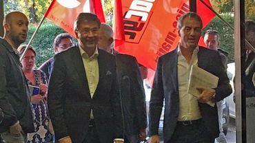 Lors d'une rare visite au quotidien, Pol Heyse et Stéphane Moreau ont été accueillis à Nice-Matin par un personnel et des syndicats plutôt remontés à leur égard