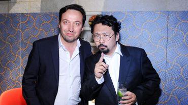 Emmanuel Perrotin et Takashi Murakami en 2013