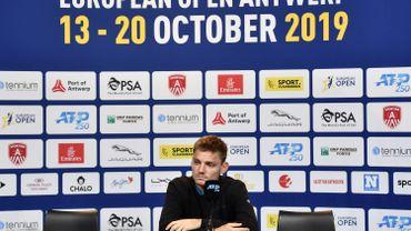 David Goffin au tournoi d'Anvers