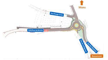 N40 – Une journée de fermeture pour terminer le nouveau giratoire de Beaumont