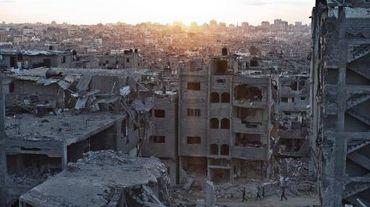 La banlieue d'Al-Shaas, dans le nord de la bande de Gaza, le 16 août 2014
