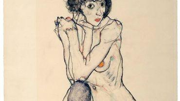 Egon Schiele - Jeune fille assise