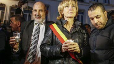 Françoise Schepmans lors du rassemblement de mercredi soir.