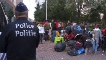 Les Roms ont été expulsés par la police ce lundi matin