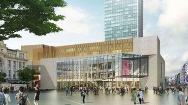 Le projet de centre commercial Rive Gauche, Place Albert 1er, à Charleroi