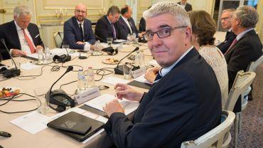 Pieter Timmermans est l'administrateur délégué de la FEB, ici en mars 2017 à la table du gouvernement fédéral.