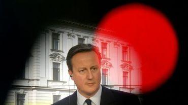 Le Premier ministre britannique David Cameron à Prague, le 22 janvier 2016