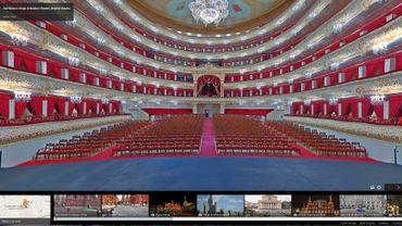 L'intérieur du théâtre du Bolshoi via l'Institut Culturel de Google