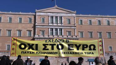 Des manifestants devant le Parlement à Athènes ce mercredi